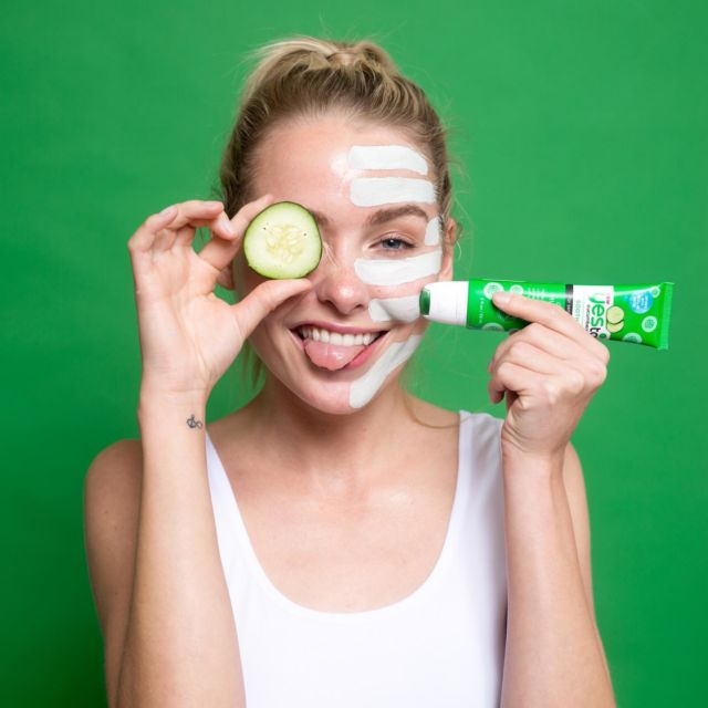 Another night in calls for another face mask!   Our Cucumber Cooling Mud Mask is the ideal way to calmly cleanse and hydrate sensitive skin 💚   Available at @tescofood 🥒   #sensitiveskin #vegan #crueltyfree #natural #skincareproducts #skincarelover #skincarejunkie